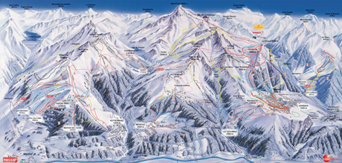 Verbier 4 Vallees map