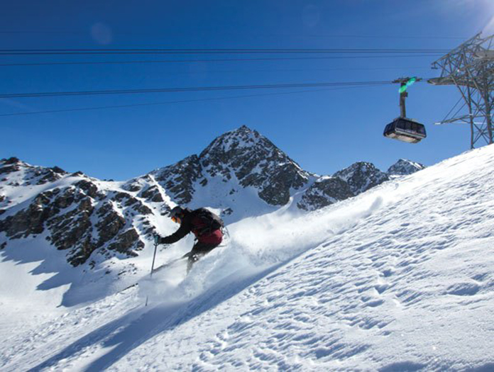 Freeride skiing at Verbier