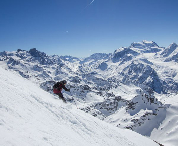 Skiing Mt Fort Verbier