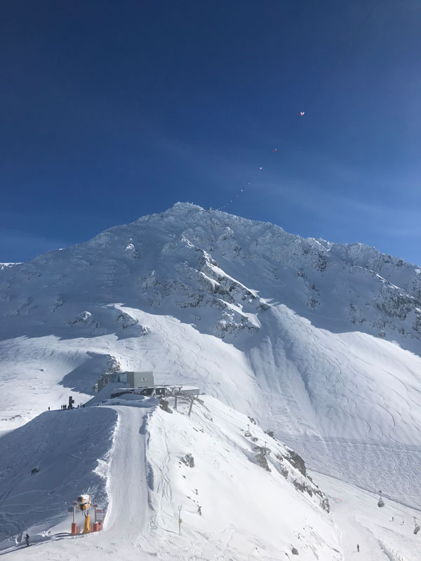 Fresh tracks off the new Mont-Gelé gondola at Verbier