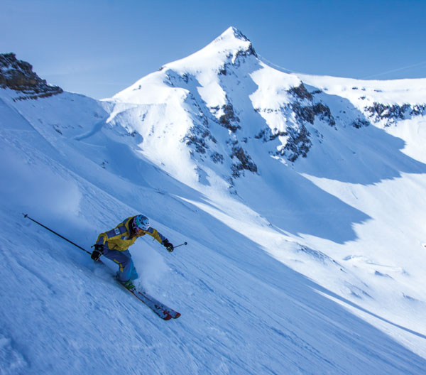 steep skiing Galcier 3000