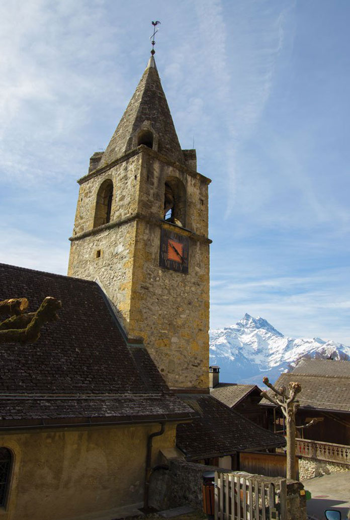 Historic church near Villars