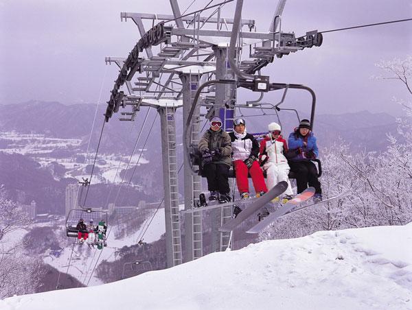 Skiing Phoenix Park