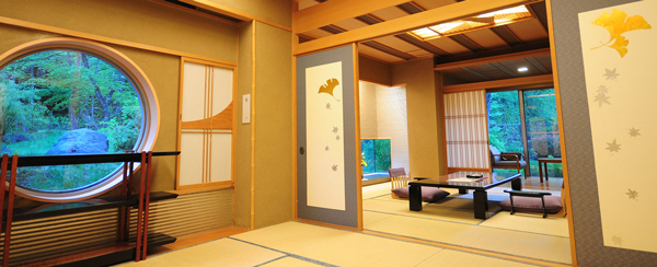 Japanese room at Bettai Senjuan