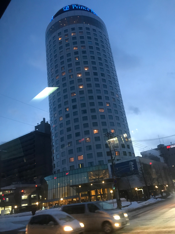 Sapporo Prince Hotel at night