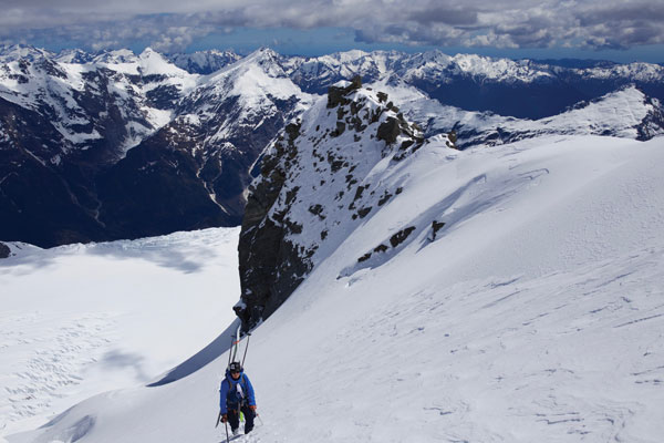Climbing the 'Ramp' Mt Aspiring