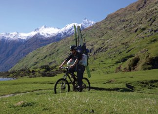 Riding toward Mt Aspiring