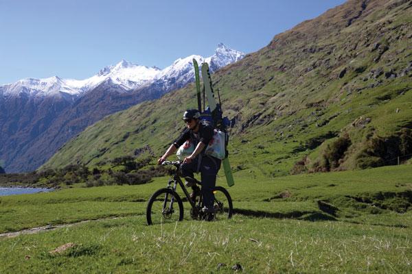 Riding toward Mt Aspiring