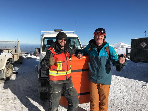 Rescue vehicle Mt Hutt