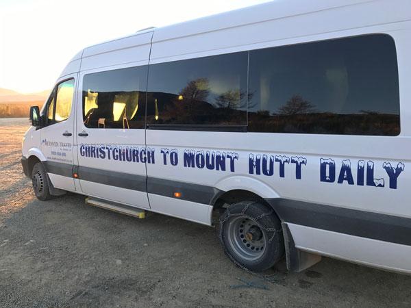 Methven Travel shuttle Mt Hutt