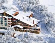 Pension Grimus Buller aerial view