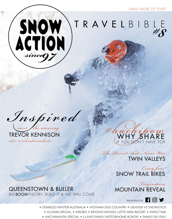 Cpover of the new Snow aCtion Travel Bible 8 issue