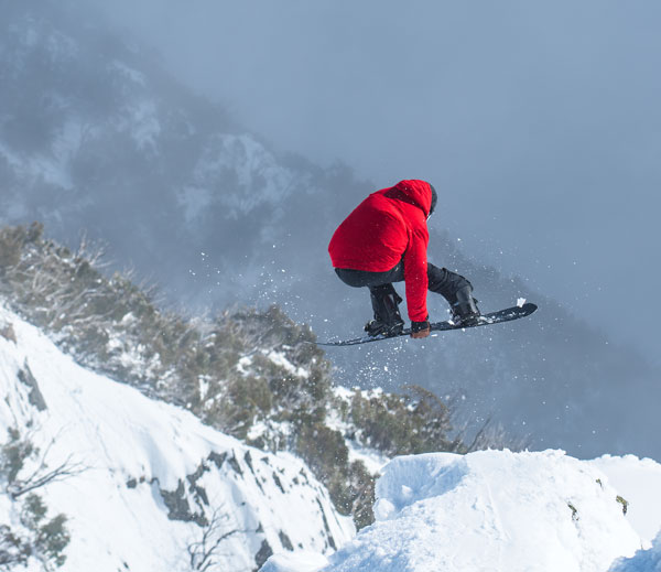 Robby Walker snowboarding Buller