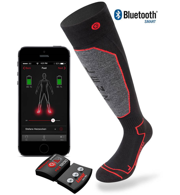 LENZ Heated Sock 5.0 & 1200 battery