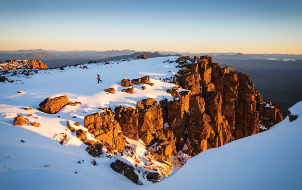 Wild Tasmania skiing Mt Field West