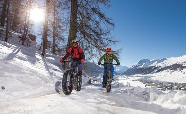 Snow biking at Livigno