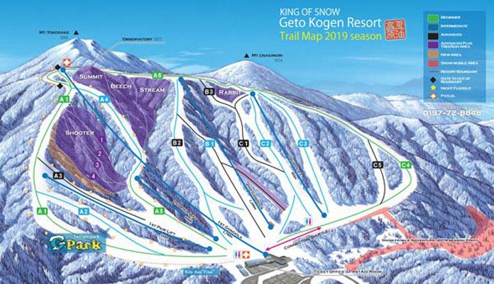Geto Kogen 2018-2019 trail map
