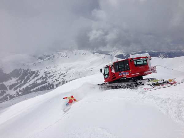 Cat skiing at Loveland