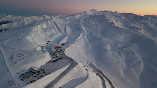 Aerial view of Cardrona
