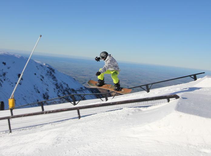 Mt Hutt has multi level park set ups