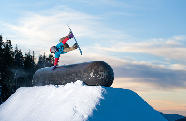 Riding Keystone A-51 terrain park