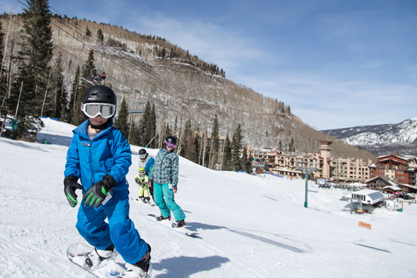 Family snowboarding Purgatory Resort
