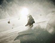 Powder boarding at Telluride