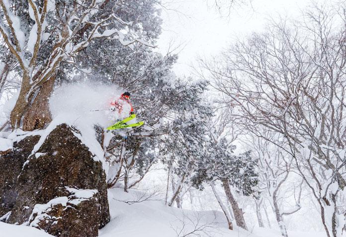 Tree skiing Kagura