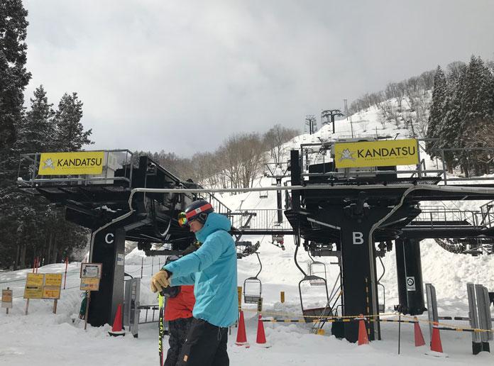 Kandatsu Kogen base chairlifts