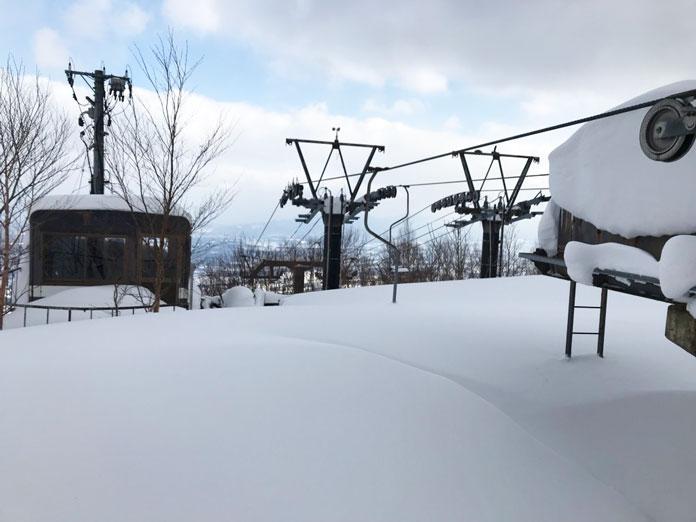 Old chairlift at Shizukuishi