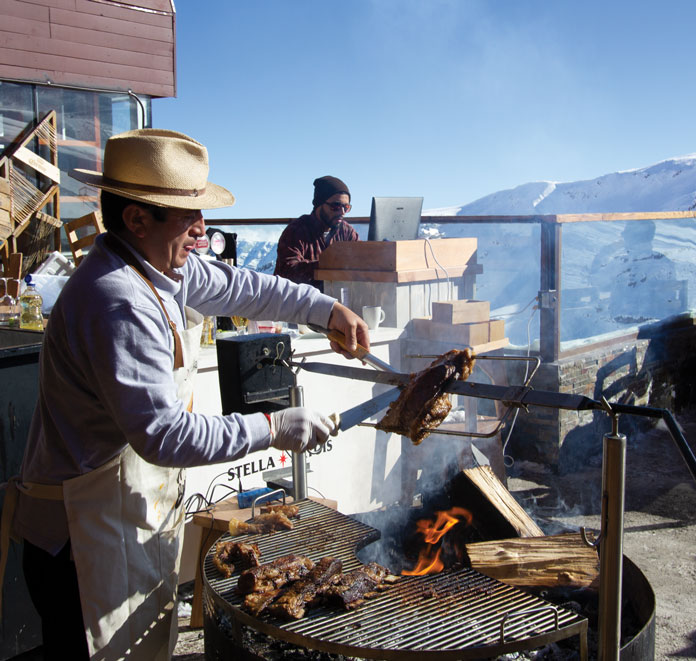 Deck Chilean barbecue at Valle Nevado