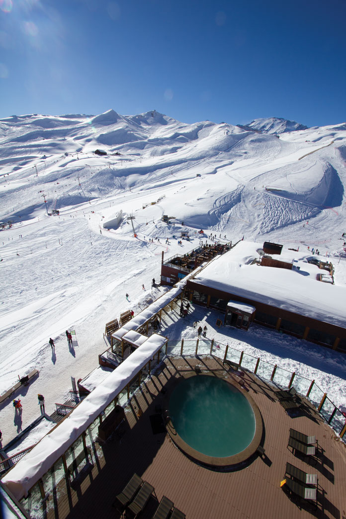 view from Puerta Del Sol hotel at Valle Nevado