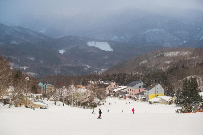 View to the small village at Oze Iwakura