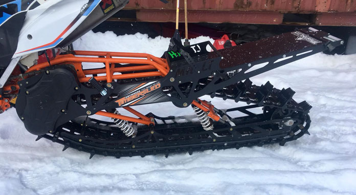 Snow Bike 'back tyre'timbersled' attachment