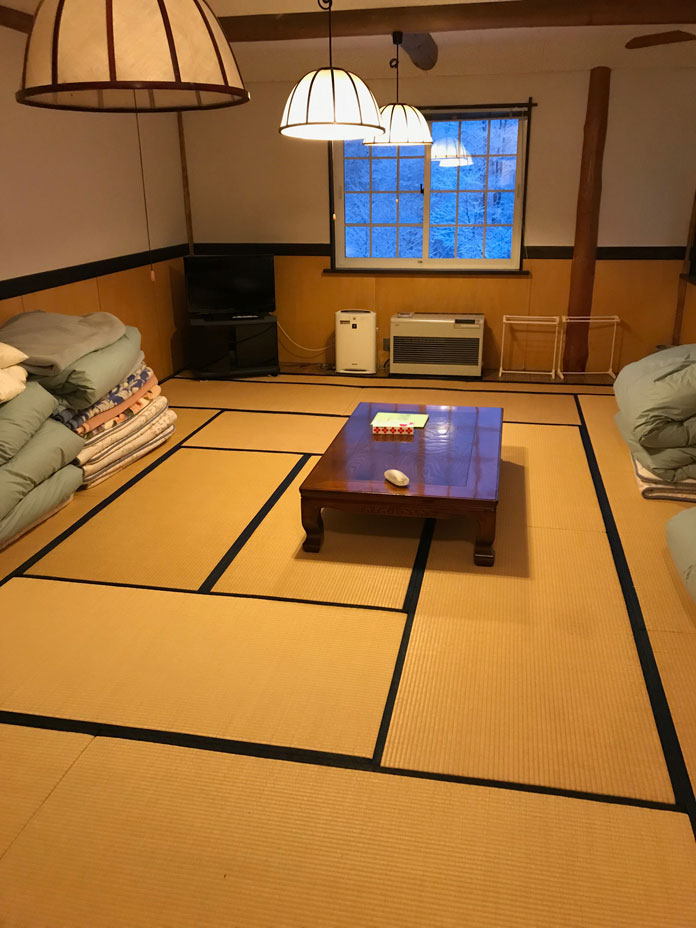 Tatami style room at Clubman Lodge