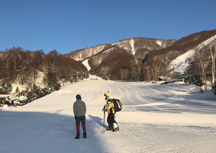 First run at Oze-Iwakura Ski Resort