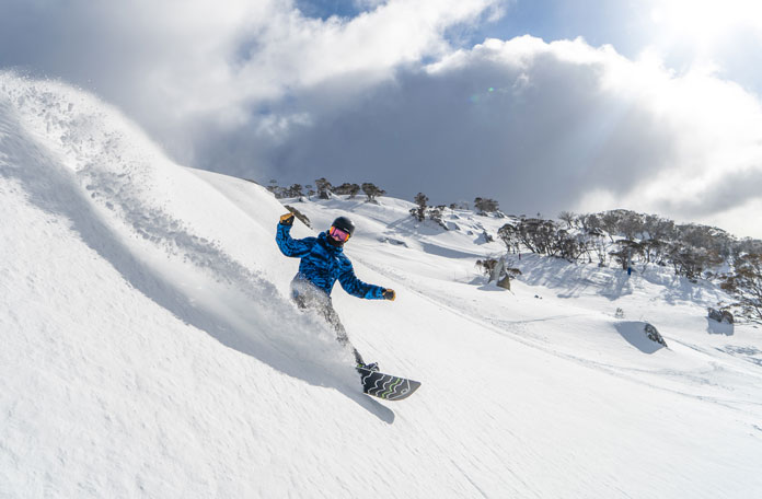 Snowboarding Perisher in the new Leichardt Chair area