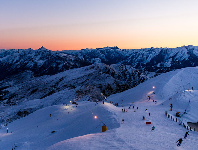 Night skiing at Coronet Peak Queenstown