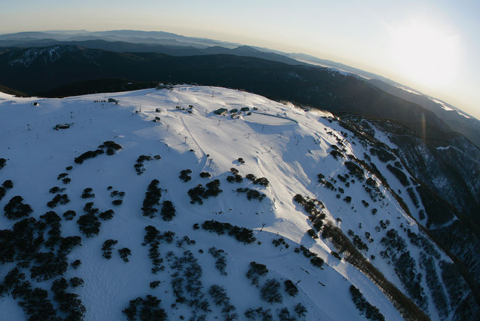 Aerial view of Mt Buller
