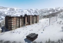 artists impression of new ski lift and Yu Kiroro condominiums