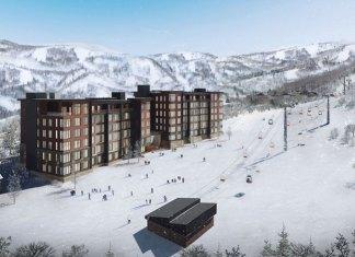 artists impression of new ski lift and Yu Kiroro condominiums