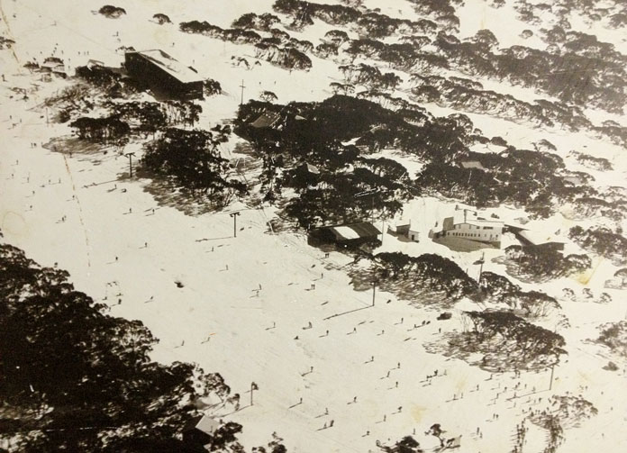 View of Bourke Street Mt Buller in 1968 ski season