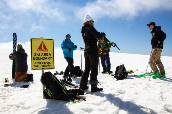 skins on to head to Hotham back country