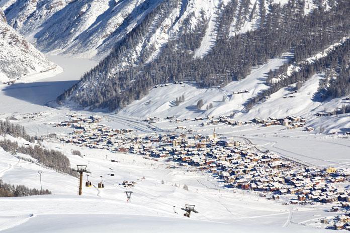 View of Livigno family ski holidays paradise