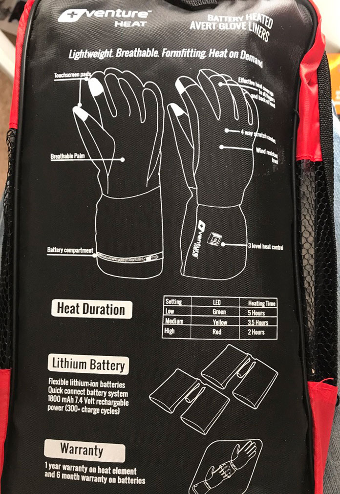 Venture Heat glove liners pack - what you get