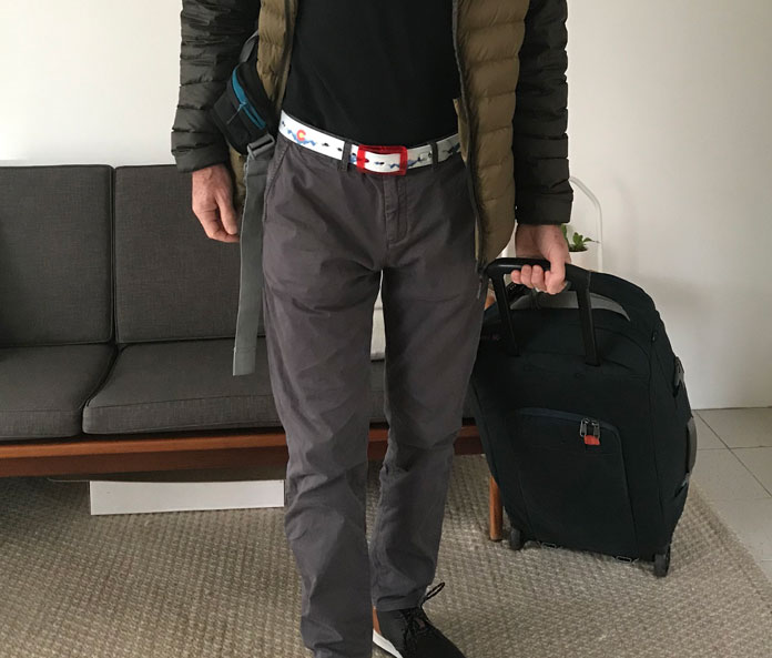 Wear C4 Belts through security when traveling