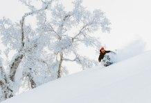 Powder skiing at Kiroro