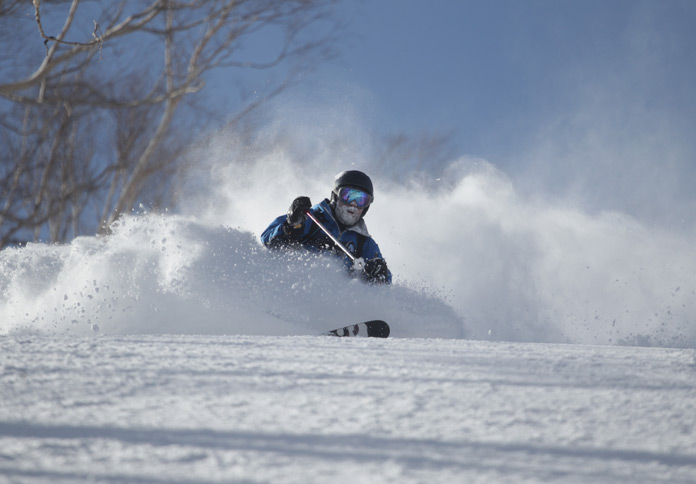 skiing powder at Hakuba with Mark Donaldson Photography