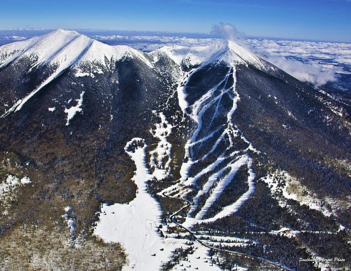 Aerial view of Arizona Snow Bowl