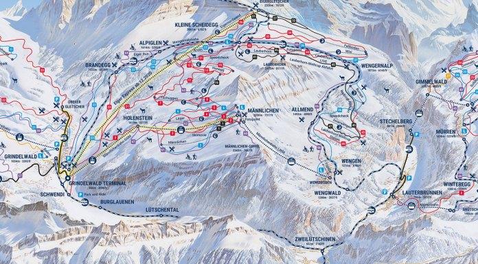 V-Cableway V-Bahn Jungfrau new trail map